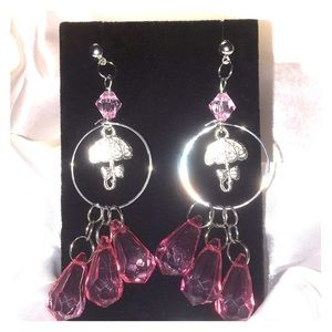 Handmade by Lucy Jewelry - Pink dangles
